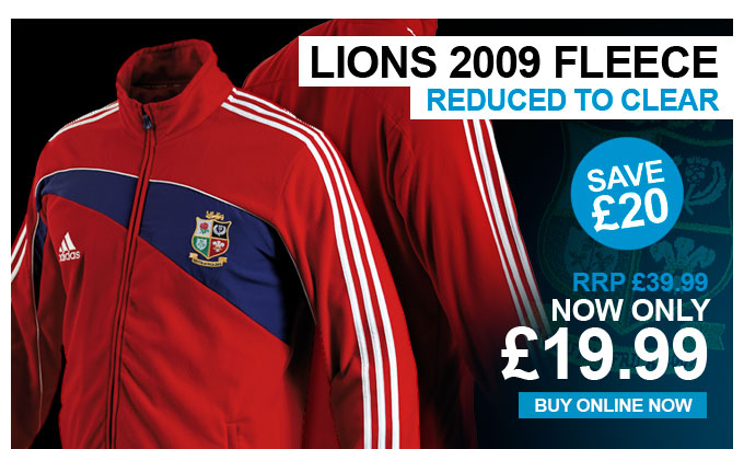 Lions 2009 Fleece - Reduced to clear - Save £20 - RRP £39.99 - Now £19.99