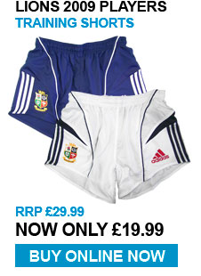 Lions 2009 Training Players Shorts - RRP £29.99 - Now £19.99