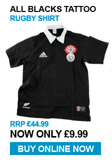 All Blacks Tattoo Rugby Shirt - RRP £44.99 - Now £9.99