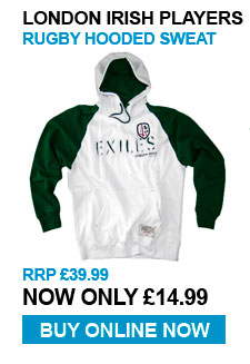 London Irisj Players Hoody - RRp £39.99 - Now £14.99