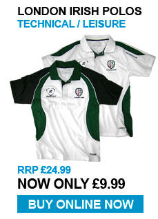 London Irish Polos - Technical / Leisure - RRP £24.99 - Now £9.99