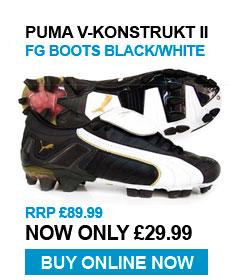 Puma V-Konstrukt II FG Boots Black / White - RRP £89.99 - Now £29.99