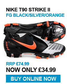 Nike T90 Strike FG Blk / Silver / Orange - RRP £74.99 - Now £34.99