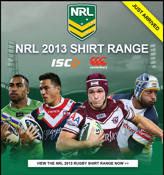 Just arrived: NRL 2013 shirt Range
