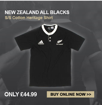 New Zealand All Blacks Cotton Heritage Shirt - Only 44.99