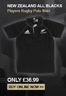 New Zealand All Blacks Players Rugby Polo Shirt - Only �36.99