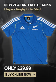 New Zealand All Blacks Players Rugby Polo Shirt - Only 29.99