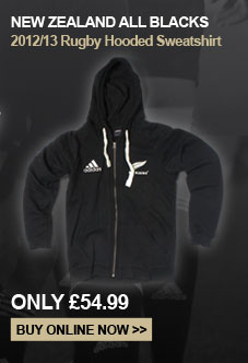 New Zealand All Blacks 2012/13 Rugby Hooded sweatshirt - Only �54.99