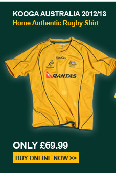 Kooga Australia 2012/13 Home Authentic Rugby Shirt - Only �69.99