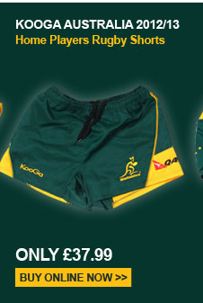 Kooga Australia 2012/13 Home Players Rugby Shorts - Only 37.99