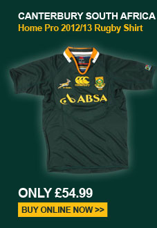 Canterbury South Africa Home Pro 2012/13 Rugby Shirt - Only �54.99