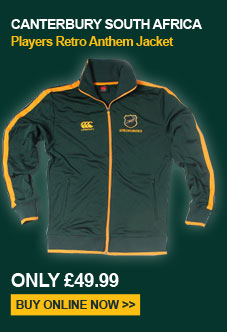 Canterbury South Africa players Retro Anthem jacket - Only 49.99