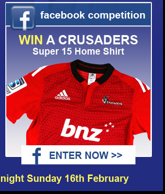 WIN a Crusaders Shirt on Facebook