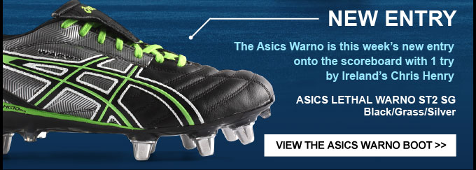 NEW ENTRY: Asics Lethal Warno with 1 try