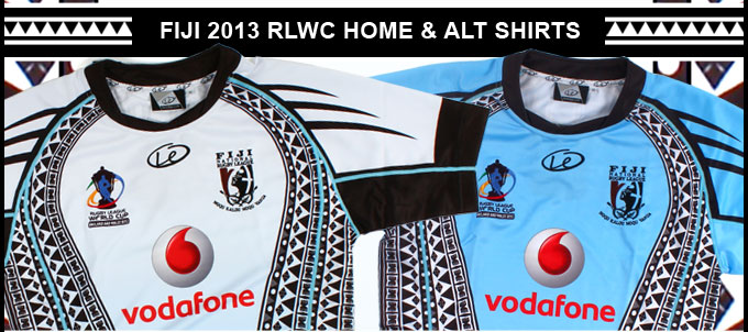EXCLUSIVE Fiji 2013 RLWC Home & Alt shirts