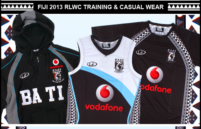 EXCLUSIVE Fiji 2013 RLWC Training & Casual Wear