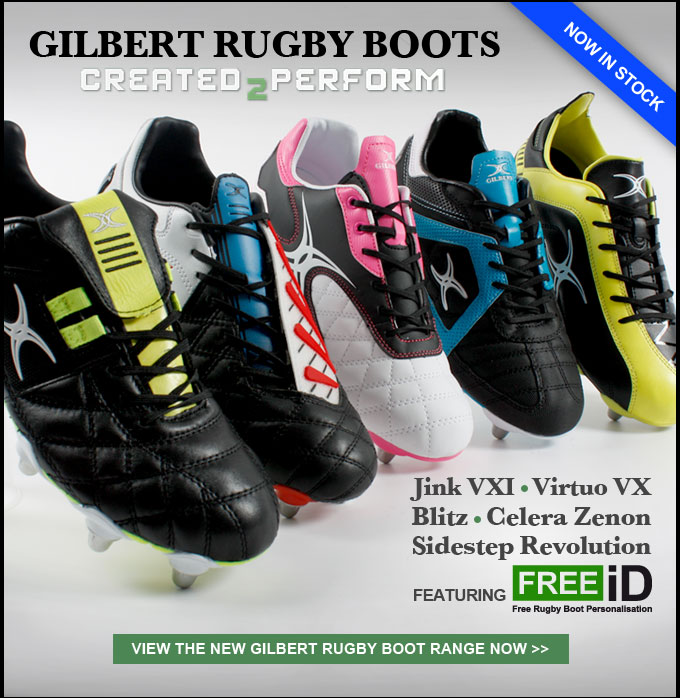 NEW Gilbert Rugby Boot Range featuring FREEiD