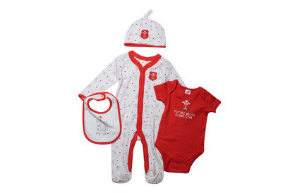 Wales WRU 2016/17 Infant 4 Piece Rugby Gift Set
