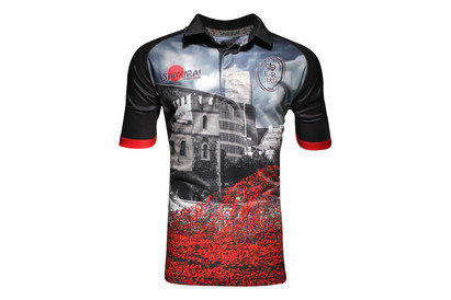 Army Rugby Union Tower Of London Poppy Appeal S/S Rugby Shirt