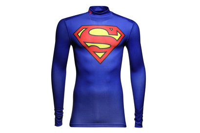 Superman Alter Ego ColdGear Kids Compression L/S T-Shirt