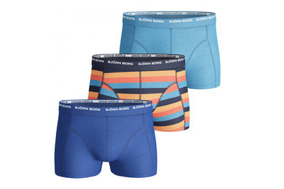Basic Stripe 3 Pack Boxer Shorts