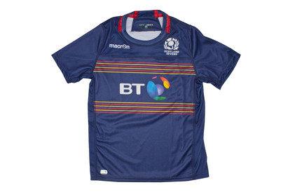 Scotland 7s 2016/17 Home Kids S/S Replica Rugby Shirt