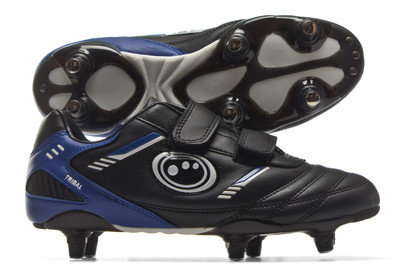 Tribal Velcro Kids 6 Stud SG Rugby Boots