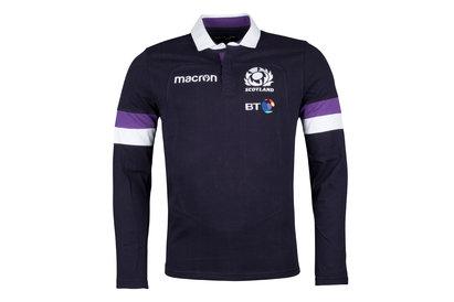 Scotland 2017/18 Home Cotton L/S Replica Rugby Shirt