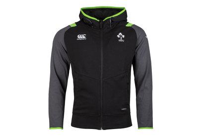 Ireland IRFU 2017/18 Players Full Zip Hooded Rugby Sweat