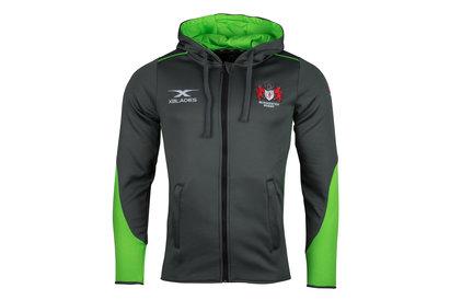 Gloucester 2017/18 Hawkins Full Zip Hooded Rugby Sweat