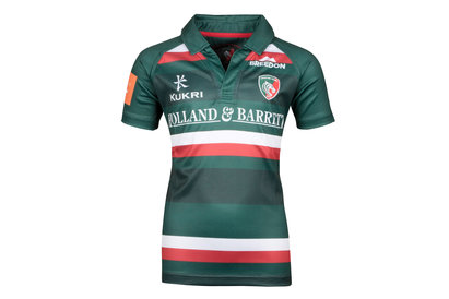 Leicester Tigers 2017/18 Kids Home S/S Replica Rugby Shirt