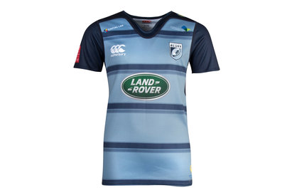 Cardiff Blues 2017/18 Kids Home Pro S/S Rugby Shirt