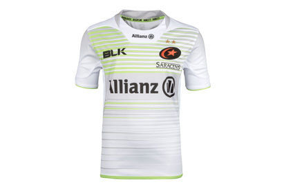 Saracens 2017/18 Kids Alternate S/S Replica Rugby Shirt
