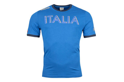 Italy 2017/18 Supporters Cotton Rugby T-Shirt