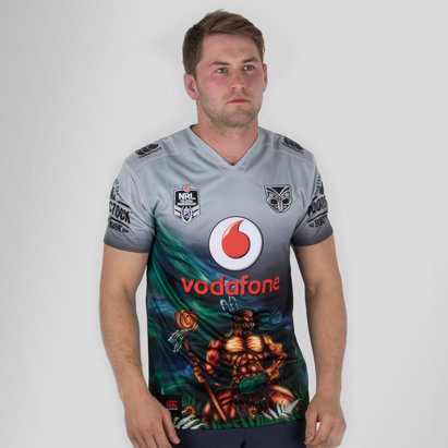 New Zealand Warriors 9s NRL 2018 Home S/S Rugby Shirt