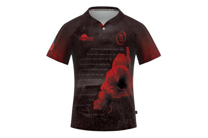 Army Rugby Union Flanders Field Poppy Ladies Remembrance Day Rugby Shirt