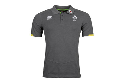 Ireland IRFU 2017/18 Players Cotton Pique Rugby Polo Shirt