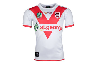 St George Illawarra Dragons NRL 2018 Home S/S Replica Rugby Shirt