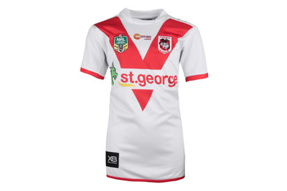 St George Illawarra Dragons NRL 2018 Kids Home S/S Replica Rugby Shirt