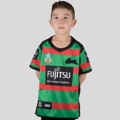 South Sydney Rabbitohs NRL 2018 Kids Home S/S Rugby Shirt