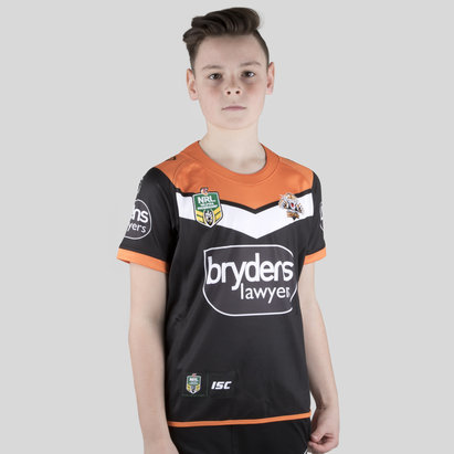 Wests Tigers NRL 2018 Kids Home Replica S/S Rugby Shirt
