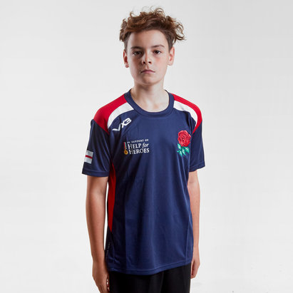 Help for Heroes England 2018/19 Kids Rugby T-Shirt
