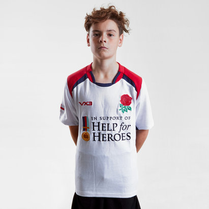 Help for Heroes England 2018/19 Kids S/S Rugby Shirt