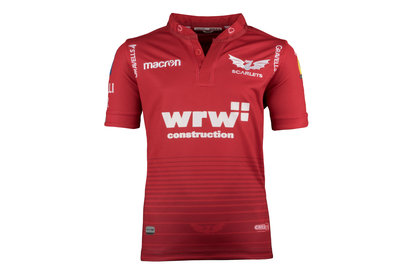Scarlets 2017/18 Kids Home S/S Replica Rugby Shirt