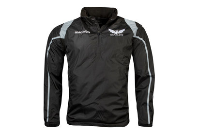 Scarlets 2017/18 Players 1/4 Zip Shower Proof Rugby Jacket
