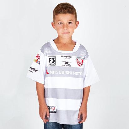 Gloucester 2018/19 Alternate Kids S/S Replica Rugby Shirt