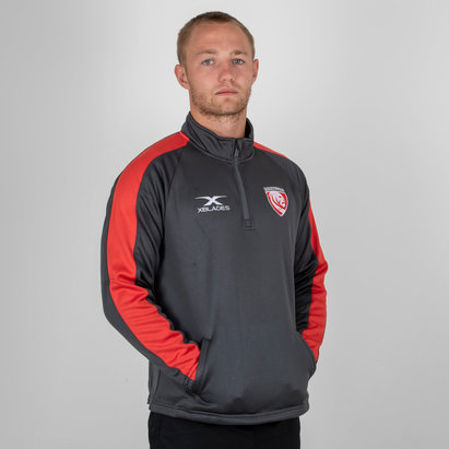Gloucester 2018/19 Players 1/4 Zip Rugby Jacket