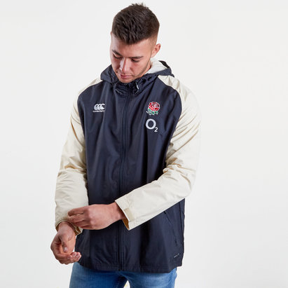 England 2018/19 Players Full Zip All Weather Rugby Jacket