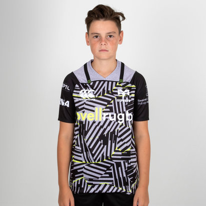 Ospreys 2018/19 Kids 3rd S/S Pro Rugby Shirt
