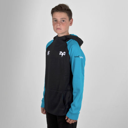 Ospreys 2018/19 Youth Hybrid Hooded Rugby Sweat